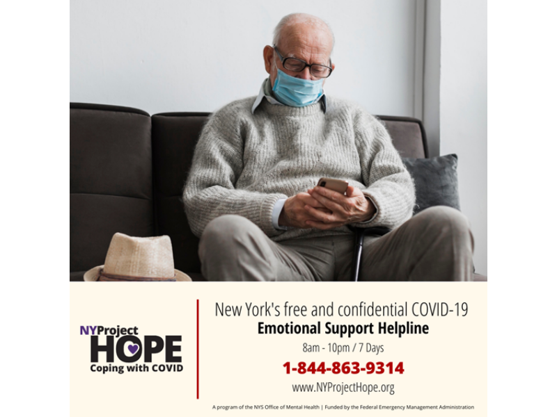 Older Adults Find Free, Confidential Support from NY Project Hope