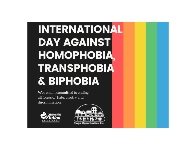 TOI Honors International Day Against Homophobia, Transphobia and Biphobia.