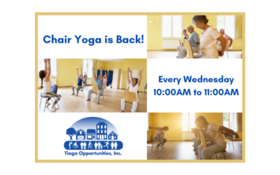Save the Date! Chair Yoga Returns September 1st!